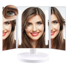 amazon com leepwei led lighted makeup mirror with 10x magnifying