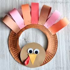 Paper Plate Thanksgiving Turkey Wreath