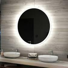 details zu rund badspiegel mit led beleuchtung 50 100 cm wandspiegel spiegel badezimmer l76