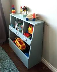 ana white build a toy storage bin box with cubby shelves free and