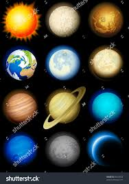 Solar System Icons Stock Vector Shutterstock