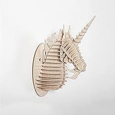 fuskang wand dekoration einhorn skulpturen 3d diy montiert