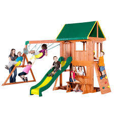 Backyard Discovery Somerset Wood Swing Set - Walmart.com Shop Backyard Discovery Prestige Residential Wood Playset With Tanglewood Wooden Swing Set Playsets Cedar View Home Decoration Outdoor All Ebay Sets Triumph Play Bailey With Tire Somerset Amazoncom Mount 3d Promo Youtube Shenandoah