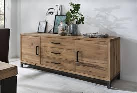 sideboard bestano 200 x 50 x 77 cm eiche massivholz möbel
