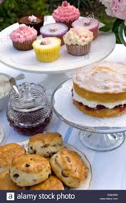 An English Cream Tea Scones Jam And Victoria Sponge Cake Cupcakes