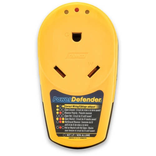 Camco 55310 Power Defender Circuit Analyzer - Yellow, 30amp