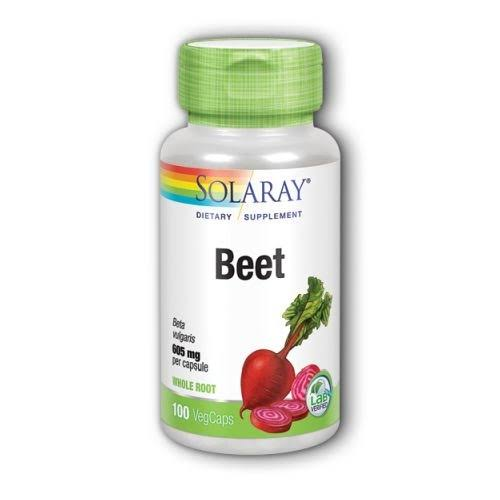 Solaray Beet Root 605mg Dietary Supplement - 100 Capsules
