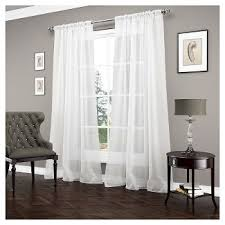 Target Gray Sheer Curtains by White Sheer Cafe Curtains Target