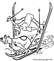 Scooby And Shaggy Skiing Doo 9a09 Coloring Pages