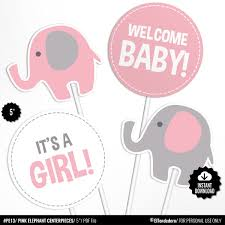 Elephant Baby Shower Centerpieces Pink Table Centerpieces Etsy