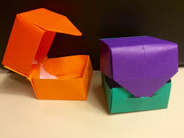 Trend Of Origami Lid Hinged Box With Fun And Easy For Kids