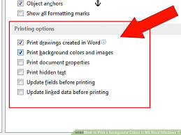 How To Print A Background Colour In MS Word Windows 7 4 Steps