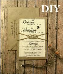 DIY Pre Made Rustic Wedding Invitation Kit