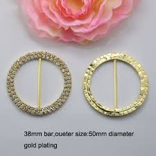 Diy Chair Sash Buckles by J0014 38mm Inner Bar Silver Or Gold Double Row Round Chair Sash