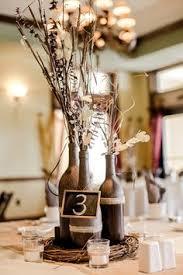 Simple Sweet Napa Valley Wedding Wine CenterpiecesWine Bottle
