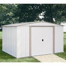 arrow galvanized steel storage shed 10x8 arrow salem economy steel shed 10x8 w bonus foundation kit