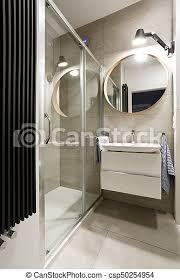 modernes badezimmer mit beige fliesen modernes design im
