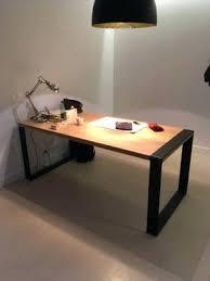 bureau metal et bois bureau industriel metal et bois bureau industriel bois mtal