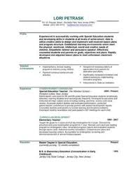 Excellent Teacher Resume Sample With The Added Personal Summery This Is Unique And Outstanding