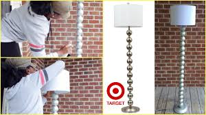 Red Lamp Shades Target by Diy Target Inspired Ball Floor Lamp Youtube
