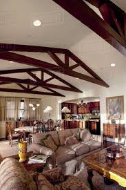 100 Cieling Beams Wooden Ceiling Beams In Great Room Laguna Beach California USA Stock Photo