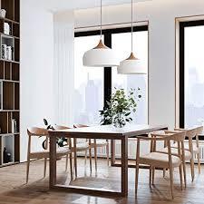 tomons pendelleuchte weiß led deckenle skandinavisch moderner simpler stil für wohnzimmer esszimmer restaurant