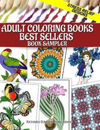 Adult Coloring Books Best Sellers Sampler Stress Relief Designs Pages For Adults Samplers Volume 2