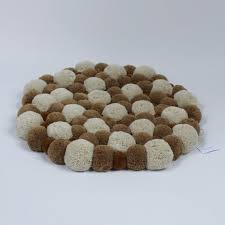 runde badezimmer teppich schlafzimmer teppich bad matte pom pom teppich nachttischmatte bad boden dekor baby play matte weichen teppich für