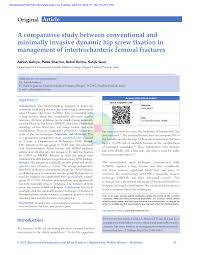 si e orthop ique comparison between conventional and minimally invasive dynamic hip
