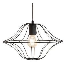 etc shop hängele pendelleuchte käfig wohnzimmer deckenleuchten metall schwarz led warmweiß dxh 35x150