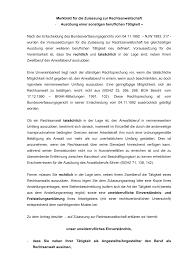 Brak Mitteilungen Merkblatt Für Die Zulassung Zur Rechtsanwaltschaft