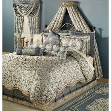 J Queen New York Paramount Curtains by Sterling Damask Comforter Set Steel Blue Master Bedroom