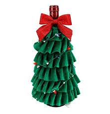 St Nicholas Square Christmas Tree Wine Bottle Cover