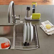 Oxo Sink Strainer Stopper by Oxo Stainless Steel Sink Organizer The Container Store