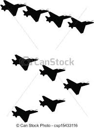 Jets In Silhouette Vector