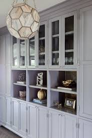 Gray Built In Cabinets With Shelves