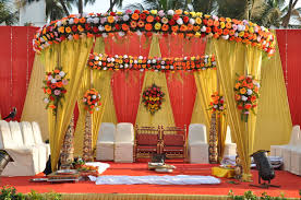 Indian Wedding Decoration Ideas With Traditional Stage Simple Reception Decorations Tent Photos