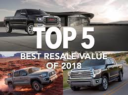 Top 5 Best Resale Value List Of 2018 Dominated By Trucks, SUVs | Off ...