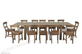teak esstisch ausziehbar 200 250 300x100 12 stühle