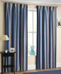 Navy And White Vertical Striped Curtains by Wide Stripe Curtain Panels Integralbook Com