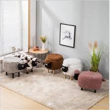 großhandel aufbewahrungshocker schuhe kleine schafe ändern wohnzimmer sofa fuß stuhl tuch paket holz moderne hocker neue ankunft möbel