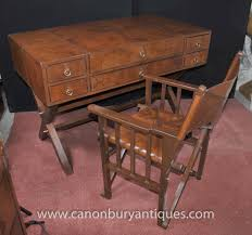 Antique Writing Desks Brisbane by Photo Of Leather Campaign Desk And Chair Set Writing Table Luggage