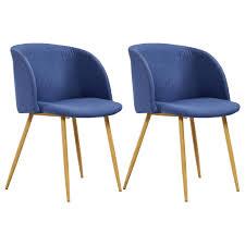 vidaxl esszimmerstühle 2 stk blau stoff gitoparts