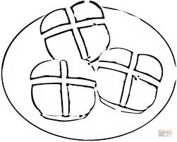 Click The Hot Cross Buns Coloring Pages