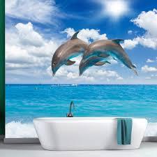 chambre dauphin papier peint océan bleu papier peint salle de bain chambre des