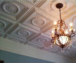 the look of tin ceilings without the expense faux tin sculpted tiles