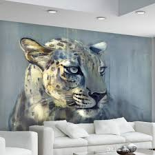 großhandel 3d benutzerdefinierte fototapeten wandbilder dynamische gestreifte leopard murales 3d tiere leopard paisajes tapeten molamurals 35 33