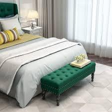 wzning schuhbank dunkelgrün bett schuhe l60 w40 h45cm sofa