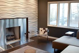Pretty 3D Wall Art Look Other Metro Contemporary Family Room Decoration Ideas With Paneling Accent