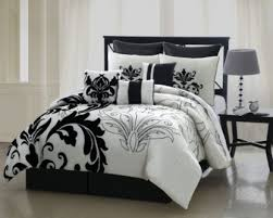 Black And White forter Sets Queen Night Stands White And Black